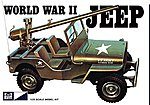 WWII US Army Jeep -- Plastic Model Jeep Kit -- 1/25 Scale -- #pc785