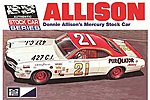 1971 Mercury Cyclone Nascar Donnie Allison -- Plastic Model Car Kit -- 1/25 Scale -- #p796
