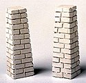 Stone Footings for Viaduct Tower -- Model Train Building Accessory -- HO Scale -- #1400