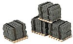 Banded Cinder Blocks on Pallets -- Model Railroad Building Accessory -- HO Scale -- #550