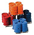 Banded 55-Gallon Drums on Pallets -- Model Railroad Building Accessory -- HO Scale -- #560