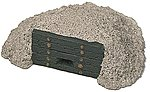 End of Track Bumper Heavy Timber on Stone Pile -- Model Railroad Scenery -- HO Scale -- #8