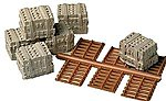 Mr. Plaster Unpainted Kits Blocks w/Pallets -- Model Railroad Building Accessory -- HO Scale -- #940