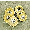 Chamois Buff Assortment- (3) 3/4''x3 Ply & (3) 5/8'' Ply Mini Buffs