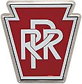 Embossed Die-Cut Metal Sign - Pennsylvania Railroad -- Model Railroad Print Sign -- #10001