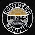 Embossed Die-Cut Metal Sign - Southern Pacific -- Model Railroad Print Sign -- #10005
