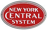 Embossed Die-Cut Metal Sign - New York Central -- Model Railroad Print Sign -- #10006