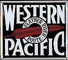 Embossed Die-Cut Metal Sign - Western Pacific -- Model Railroad Print Sign -- #10008