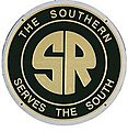 Embossed Die-Cut Metal Sign - Southern Railway -- Model Railroad Print Sign -- #10009