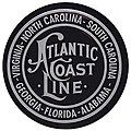 Embossed Die-Cut Metal Sign - Atlantic Coast Line -- Model Railroad Print Sign -- #10012