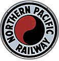 Embossed Die-Cut Metal Sign - Northern Pacific -- Model Railroad Print Sign -- #10013