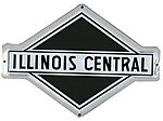 Embossed Die-Cut Metal Sign - Illinois Central -- Model Railroad Print Sign -- #10015
