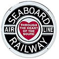 Embossed Die-Cut Metal Sign - Seaboard Air Line -- Model Railroad Print Sign -- #10019