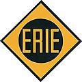 Embossed Die-Cut Metal Sign - Erie -- Model Railroad Print Sign -- #10021