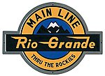 Embossed Die-Cut Metal Sign - Denver & Rio Grande Western -- Model Railroad Print Sign -- #10022