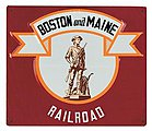 Embossed Die-Cut Metal Sign - Boston & Maine -- Model Railroad Print Sign -- #10025