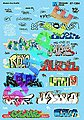 Modern Urban Graffiti 2010s -- N Scale Model Railroad Decal -- #601364