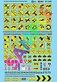 Misc. Road Signs, Parking Signs & Clearance Signs -- N Scale Model Railroad Decal -- #601430