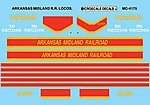 Arkansas Midland Diesels 1992+ -- N Scale Model Railroad Decal -- #604175