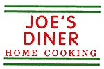Joe's Diner Home Cooking Electroluminescent Sign -- HO Scale Model Railroad Accessory -- #75e1501