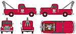 Chevrolet Wrecker/Tow Truck Mobil Service (red) -- HO Scale Model Railroad Vehicle -- #30394