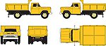 F-500 Dump Truck Yellow -- HO Scale Model Railroad Vehicle -- #30444