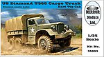 US Diamond T 968 Hardtop Cab Cargo Truck -- Plastic Model Military Vehicle -- 1/35 Scale -- #35803