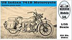 US Indian 741B Motorcycle -- Plastic Model Military Vehicle -- 1/35 Scale -- #35831