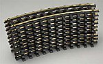 (bulk of 6) Holiday Express Curved Track (6) -- G Scale Brass Model Train Track -- #21000