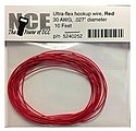 30 AWG Red 10' -- Model Railroad Hook Up Wire -- #252