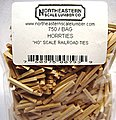 Railroad Ties Qty 750 -- HO Scale Model Railroad Scratch Supply -- #793