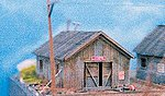 Storage Shed -- N Scale Model Railroad Building Kit -- #30002
