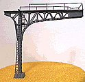 Signal Bridge Cantilever Single Track (black) -- N Scale Model Railroad Bridge -- #4212