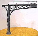 Signal Bridge Double Track (Silver) -- N Scale Model Railroad Bridge -- #4213