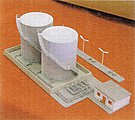 Twin-Tank Fuel Facility w/Office & Platform Kit -- N Scale Model Railroad Accessory -- #6201