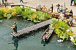 Small Fishing Pier Kit -- HO Scale Model Railroad Building Accessory -- #14223