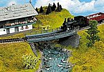 Curved Steel Bridge -- HO Scale Model Bridge -- #21350
