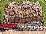 Retaining Wall w/Rock -- HO Scale Model Railroad Scenery -- #58150