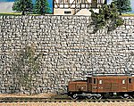 Quarry Stone Wall (24 x 13cm ) -- HO Scale Model Railroad Scenery -- #58250