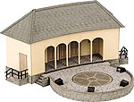 Open Stage with Rock Band Scene -- HO Scale Model Railroad Building -- #66825