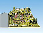 Right Extension For Large Landscape Layout -- HO Scale Model Railroad Scenery -- #80150
