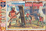 Medieval Siege Troops (50) -- Plastic Model Military Figure -- 1/72 Scale -- #72019