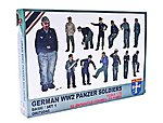 WWII German Panzer Soldiers (52) -- Plastic Model Military Figure -- 1/72 Scale -- #72045