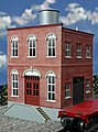 Acme Machine Co. 2-Story Building Kit -- O Scale Model Railroad Building -- #442
