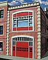 Fire Station 2-Story Building Kit -- O Scale Model Railroad Building -- #864