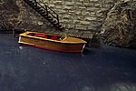 21' Mahogany Runabout (wooden kit) -- HO Scale Model Railroad Boat Kit -- #1001