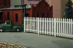 Commercial Fence Kit -- HO Scale Model Railroad Building Accessory -- #1013