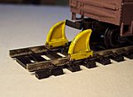 Rail Stops -- HO Scale Model Railroad Trackside Accessory -- #1038