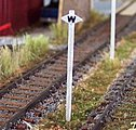 Whistle Sign CP -- HO Scale Model Railroad Trackside Accessory -- #1047