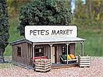 Pete's Produce Stand -- HO Scale Model Railroad Building Kit -- #1062